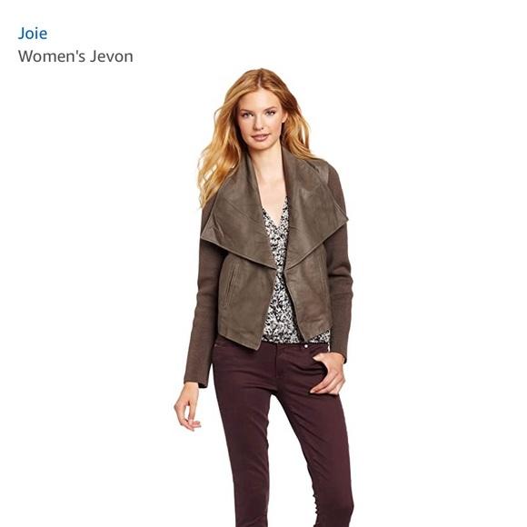 Joie Jevon Feather Leather Jacket